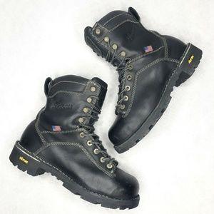 "Danner Quarry USA 8"" Black Steel Toe Leather Work"